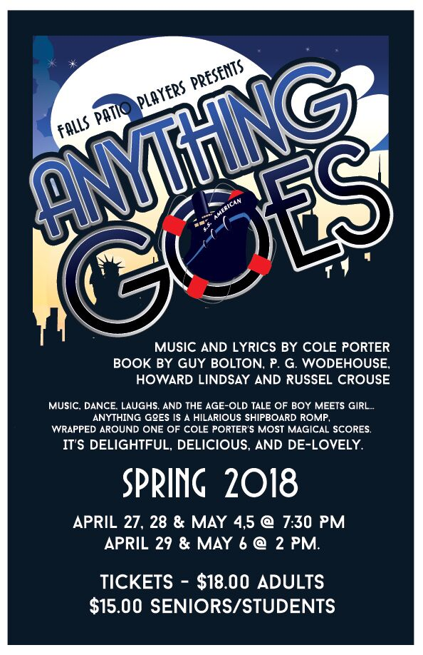 Lyric cole porter lyrics : Anything Goes - April/May 2018 - Falls Patio Players