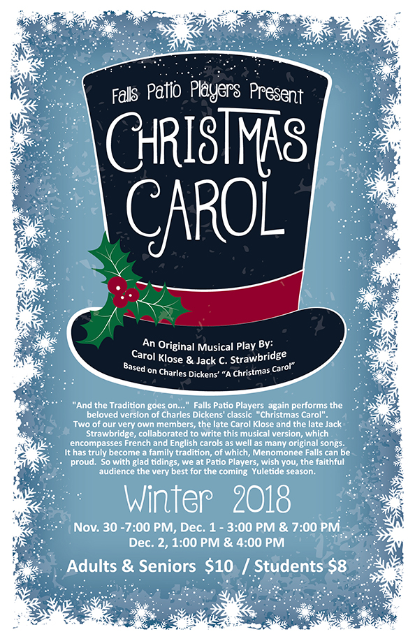 falls patio players again performs the beloved version of charles dickens classic christmas carol two of our very own members the late carol klose and - Original Christmas Carol